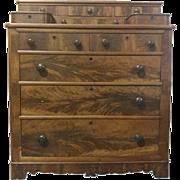 """Antique Gentleman's Chest of Drawers, Walnut, Circa 1850, 48.5""""H"""