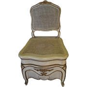 """Antique Regency Style Louis XV Commode, Painted, Cane, 38""""H"""