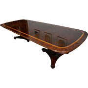 Used Henredon Dining Table, Flaming Mahogany, Oxford Classics Collection