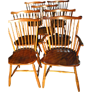 Set of 7 Vintage L & JG Stickley Original 1956 Dining Chairs, Cherry