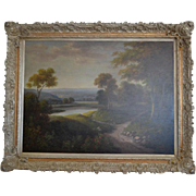 Original Oil On Canvas Landscape Painting By Humphrey, Framed 79.5″W x 62.5″H, PA4753LR