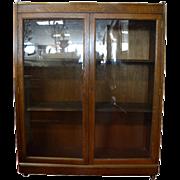 Antique Curio Cabinet, China Cabinet, Bookcase, Solid Oak, Circa 1920, PA4763