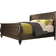 New Kincaid Capri Queen Sleigh Bed 20-150R, Bordeaux, Retail $3500, European Villa Collection, PA4768