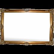 Gilt Wood Beveled Mirror, Large, Ornate Frame, 55″W, PA4780