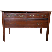Antique Work Table Chest, Circa 1850, 48″W
