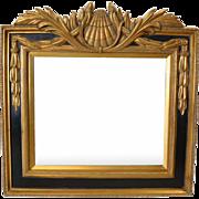 Empire Style Gilt Wood Mirror, Black, Gold, Beveled, PA4798