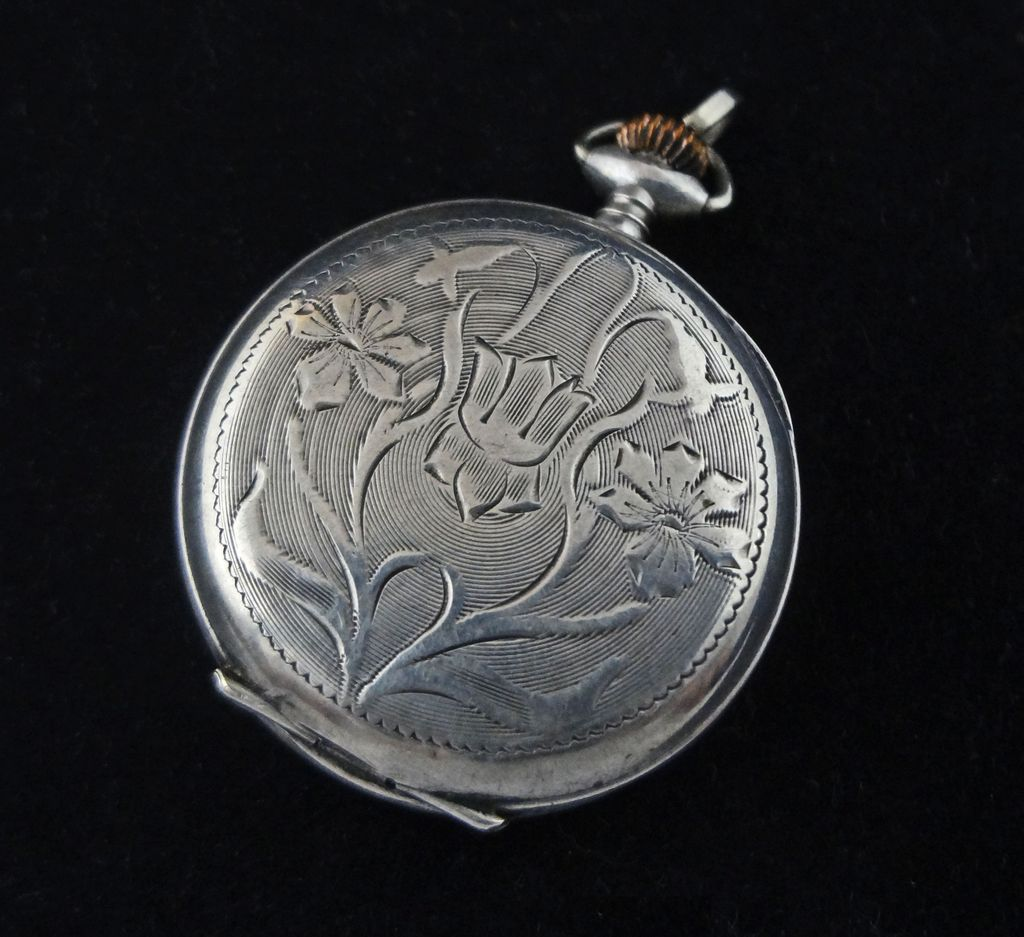 Art Nouveau Silver Watch Case 0.800 - Switzerland, 1882-1934