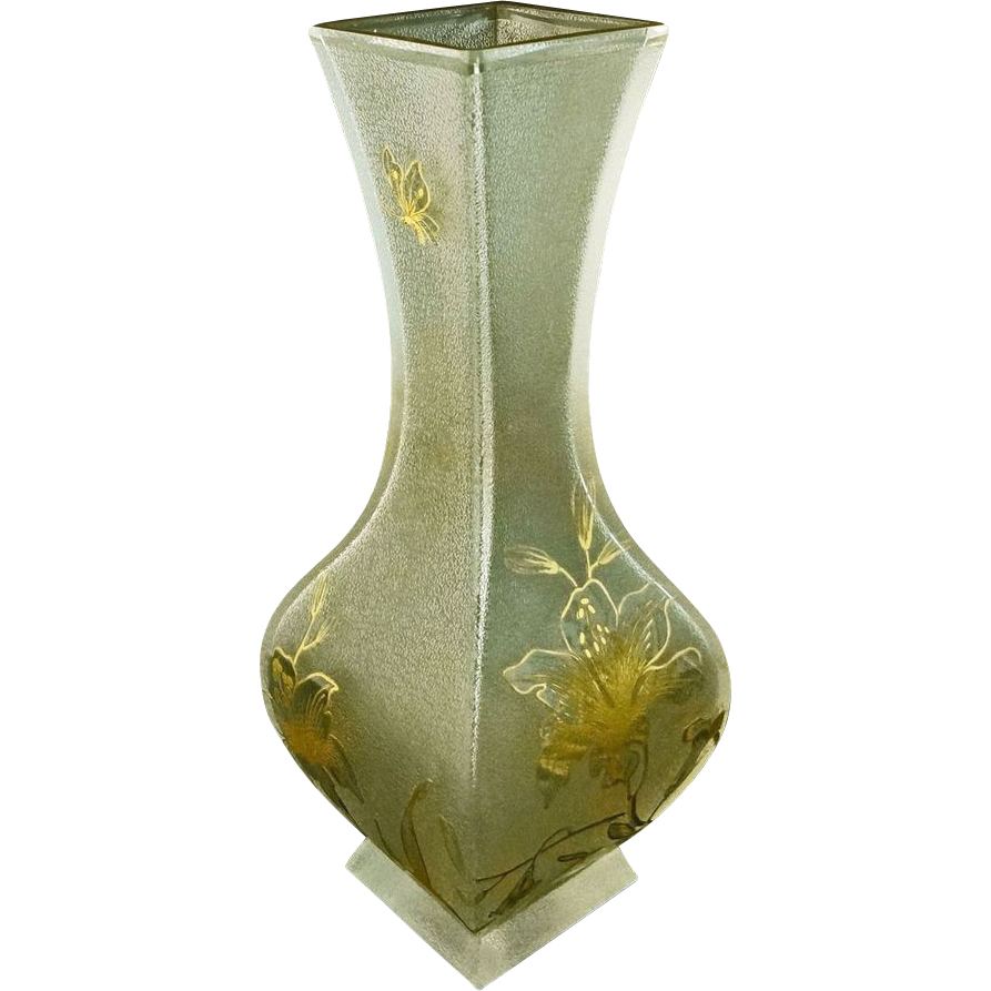 "Antique Large 11"" signed Daum Nancy France Art Glass Vase Aesthetic Movement  - c. 19th Century, France"