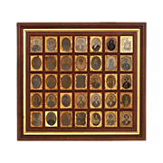Antique New England 35 Daguerreotype and Ambrotype Portrait Collection - 19th Century, USA