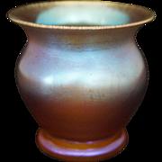 WMF Myra Amber Iridescent Glass Vase Art Deco Period - 1926-1936, Germany