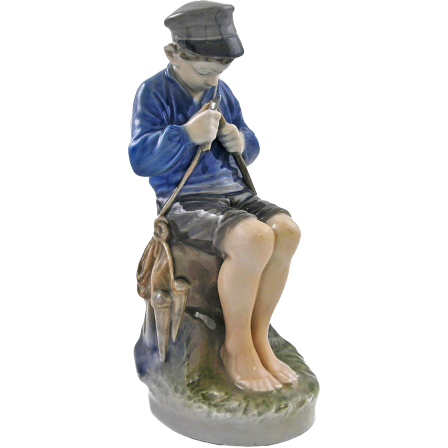 "Royal Copenhagen ""The Whittler"" Figurine signed by Artist Christian Thomsen - 1951, Denmark"
