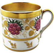 Vista Alegre Portuguese Cup Gilt and Flora Motif - c. 1940's, Portugal