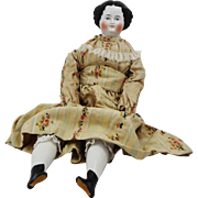 Large Antique 22 inch China Shoulder Head Doll  - 19th Century, Germany