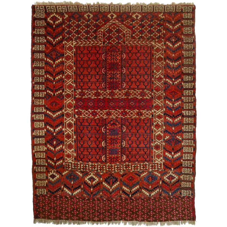 "Turkoman Yomud Engsi 59"" by 45"" Rug / Wall Hanging Turkey"