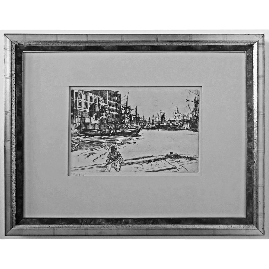 Eagle Wharf after Whistler Etching - c. 19th/20th Century, England