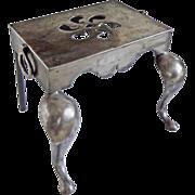 Antique Iron Footman / Trivet with Pierced Top - c. 19th Century, England