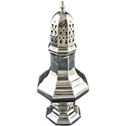 English Octagonal Silverplate Sugar Caster Hallmark Barker Bros. Silversmiths Birmingham - 20th Century, England