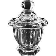 Baccarat Crystal Lidded Jam Jar and Spoon Missouri Pattern - 20th Century, France