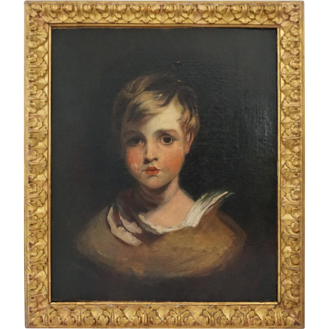 Portrait of a Young Boy, thought to be Master Thornhill, Oil on Canvas - 19th Century, England