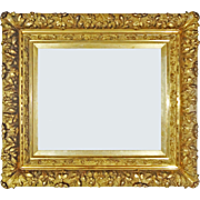 Antique French Louis XIV Style Gilt Wood Gesso Picture / Mirror Frame