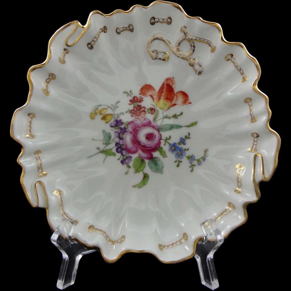 Ambrosius Lamm Decor Dresden Porcelain Bowl Carl Tielsch