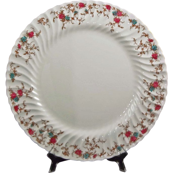 "15"" Round Platter Minton China Ancestral Pattern - 20th Century, England"