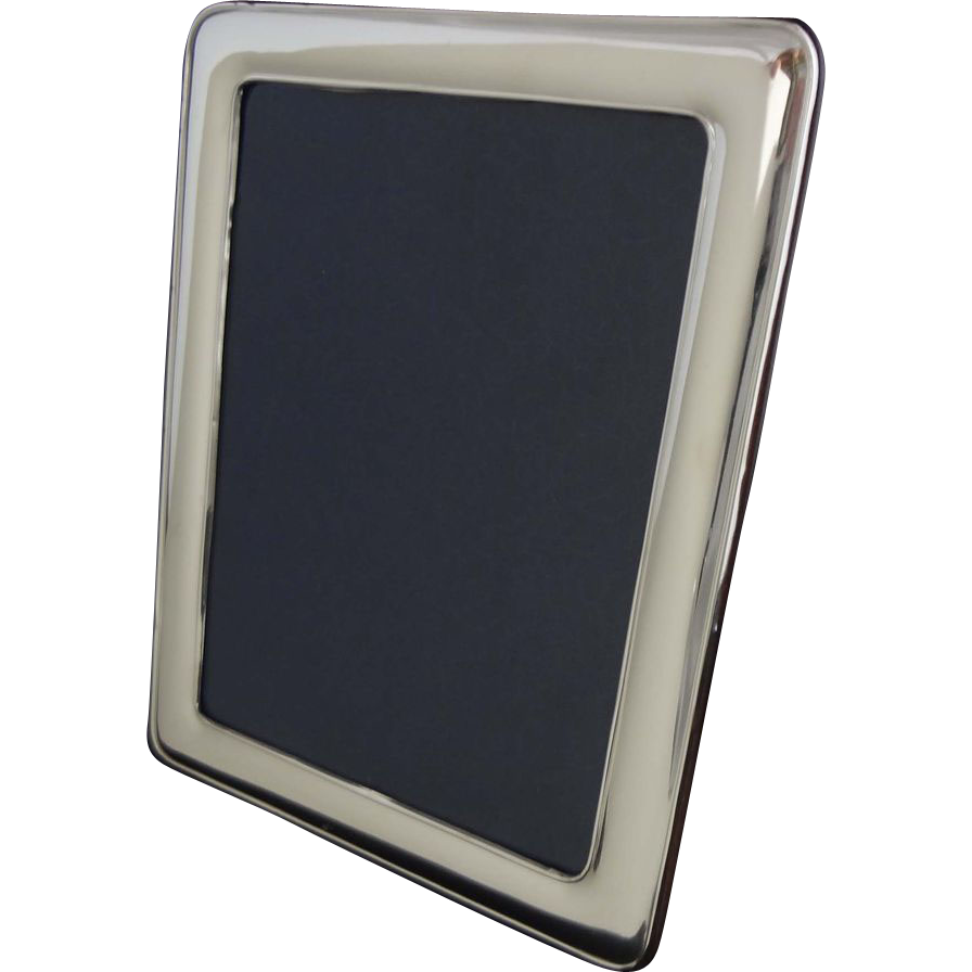 Classic 11.4x9 Inch Sterling Picture Frame Marked 925 20th Century