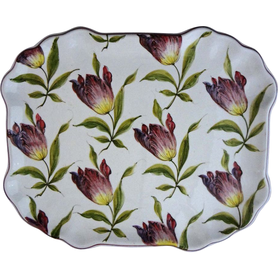 Exclusive for Tiffany & Co.  Large Tulip Pottery Platter - 20th Century, Italy