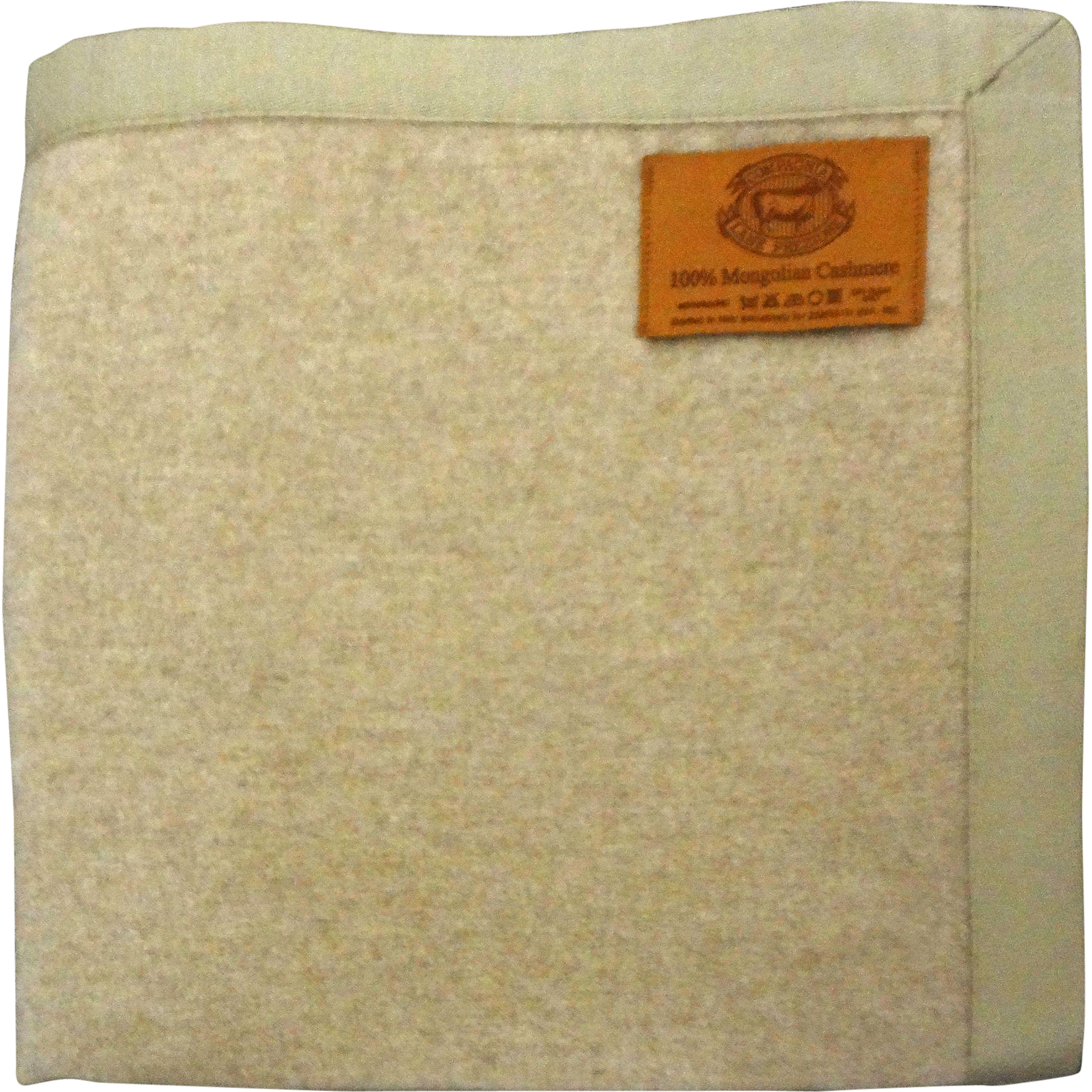 100% Cashmere Throw / Blanket Beige / Camel Large 96x66 Inch - Italy
