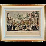 Antique French Mezzotint Tableau des portraits à la mode after St. Aubin - c. 19th Century, France