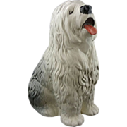 Large Old English Sheep Dog Figure by Beswick Pottery England