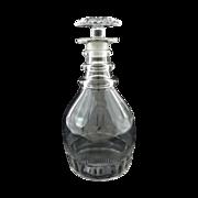 Three-Ring Anglo-Irish Georgian Style Glass Decanter - c. 19th/20th Century, Great Britain