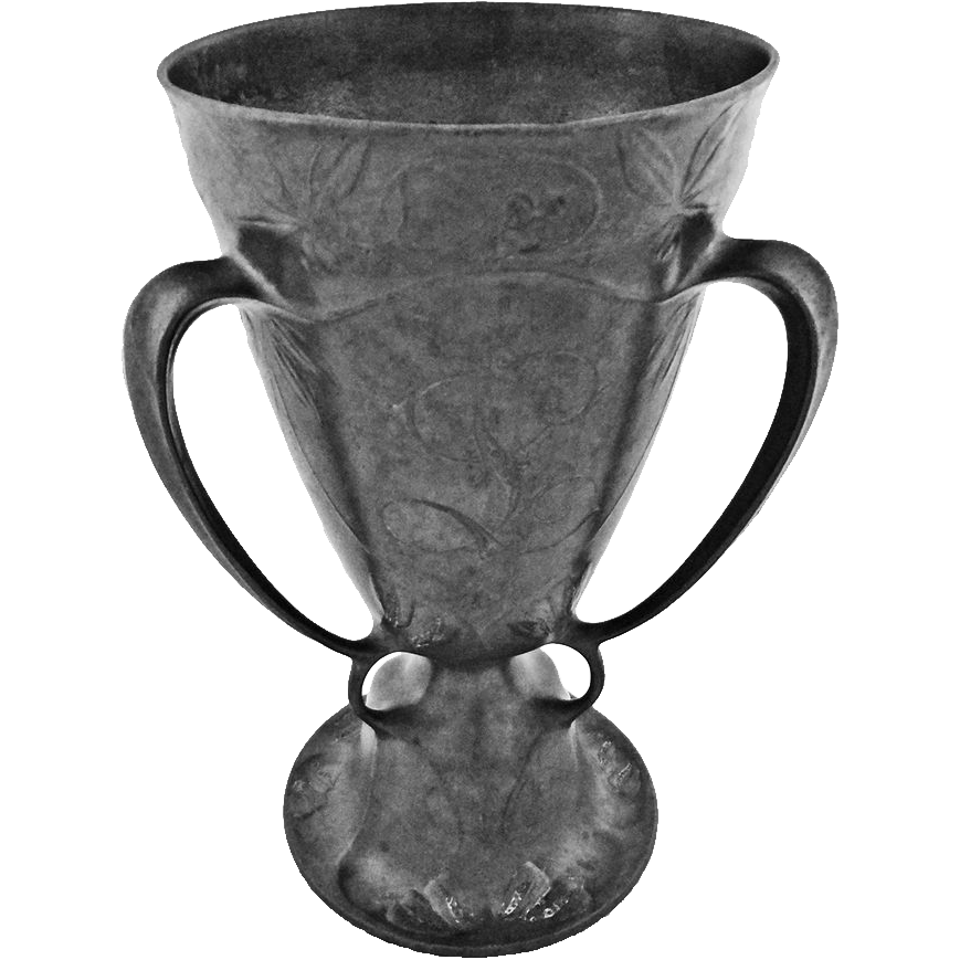 KayserZinn Pewter Loving Cup / Beer Chalice Pattern 4474 Jugendstil Art Nouveau - c. 1900's, Germany