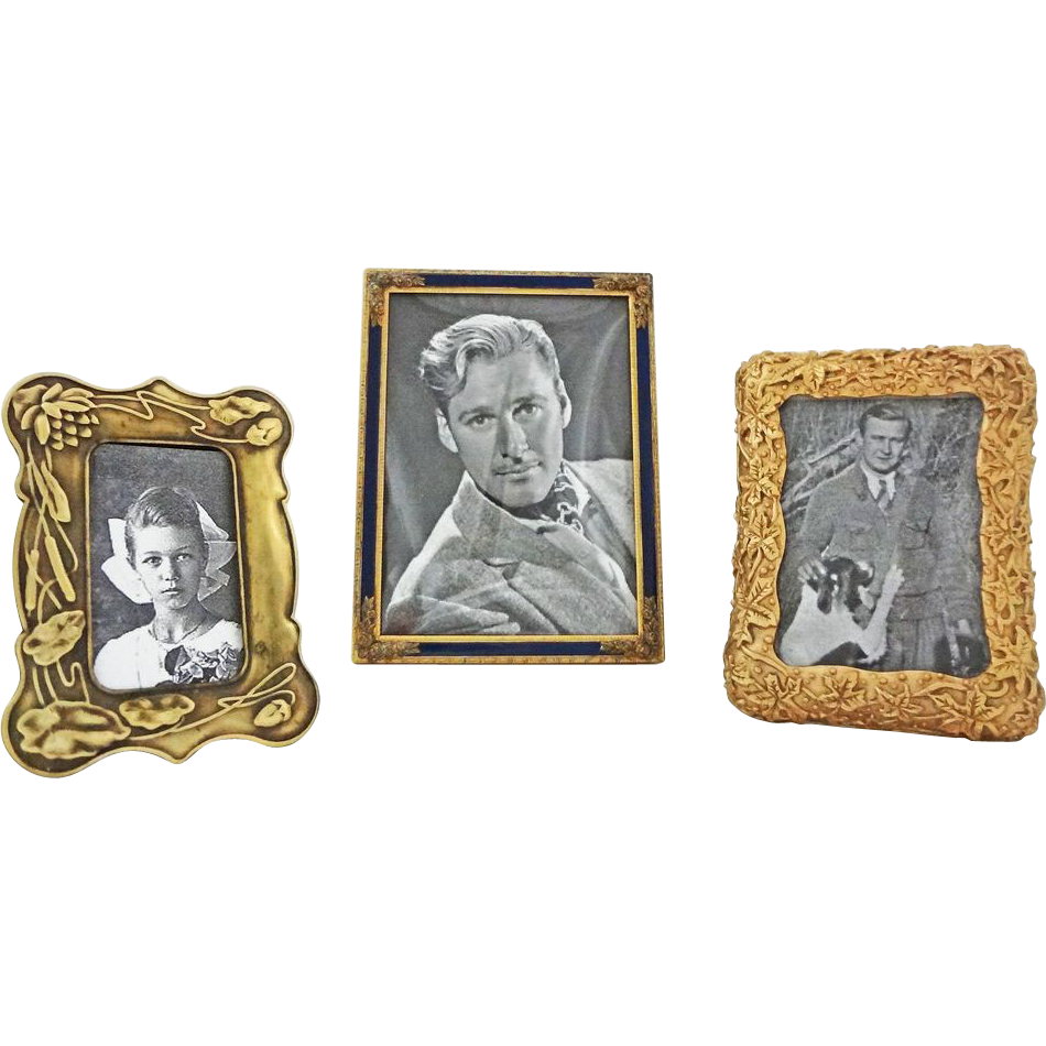 Lot of Three Bronze Picture Frames - 20th Century