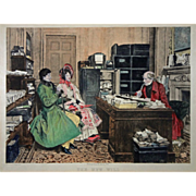 Etching The New Will by James Dobie after W. Dendy Sadler - England