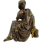 Bronze Sculpture Virgil Roman Poet as a Young Man signed L. Pilet - c.19th/20th Century, France