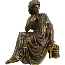 Bronze Sculpture Virgil Roman Poet as a Young Man signed L. Pilet - c.19th/20th Century, France - Red Tag Sale Item