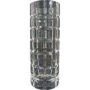 Tiffany & Co. Modern Crystal Vase Tartan Plaid - 20th Century, USA