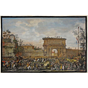 The Italian Campaigns Engraving Entrée des Français dans Milan after Vernet - c. 19th Century, France
