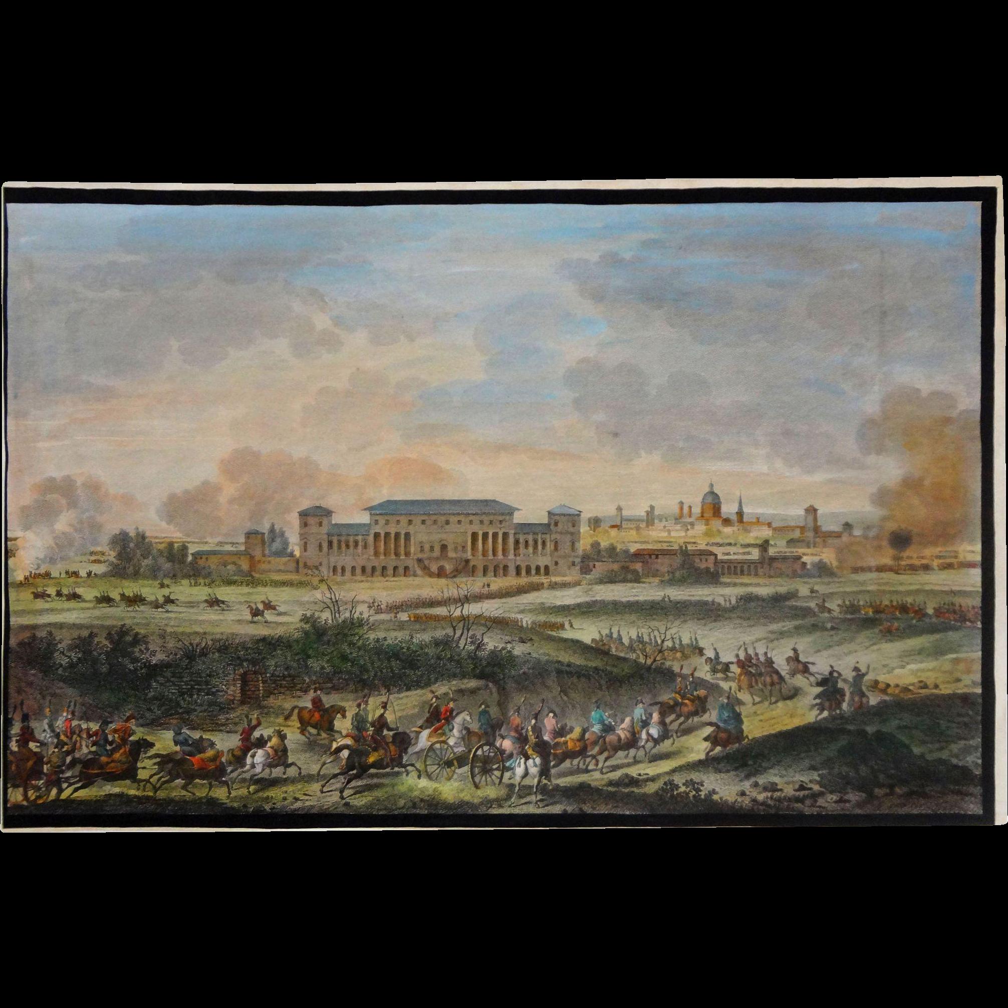 The Italian Campaigns Engraving Bataille de la Favorite after Vernet - c. 19th Century, France