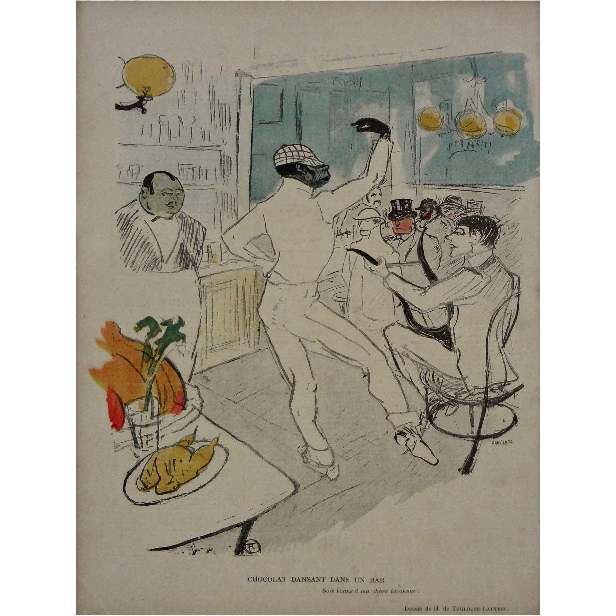 Chocolat Dansant dans un Bar after Henri de Toulouse-Lautrec - 1896, France