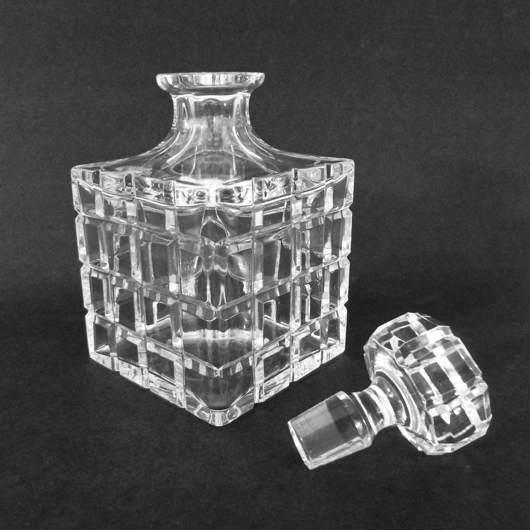 Antique Cut Glass Crystal Port Wine DECANTER Sherry Victorian CARAFE Hobnail Spirit Large Thistle Mid 19th Century LS