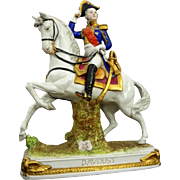 German Scheibe Alsbach Napoleonic Porcelain Figurine on Horseback Davoust