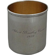 Tiffany Sterling Siver Cann / Mug / Handled Cup - 1929, USA