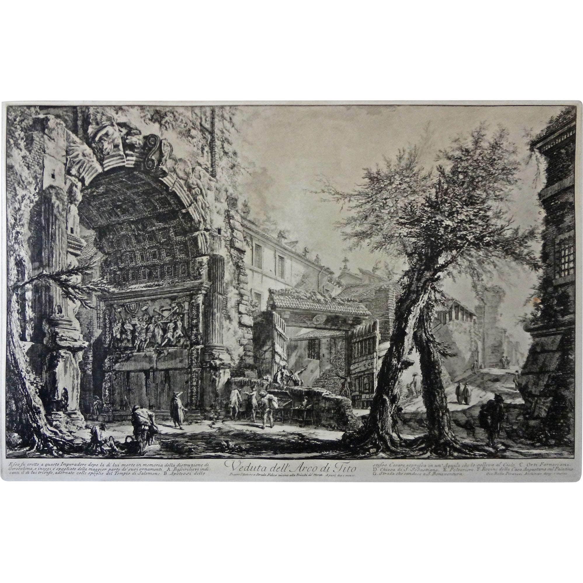 Etching after Giovanni Battista Piranesi Veduta dell' Arco di Tito