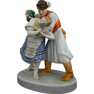 Herend Porcelain Figurine 5553 Béla Markup Large - 20th Century, Herend