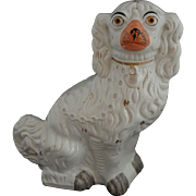 "Staffordshire Large 13"" Spaniel Dog White Orange Muzzle - England"