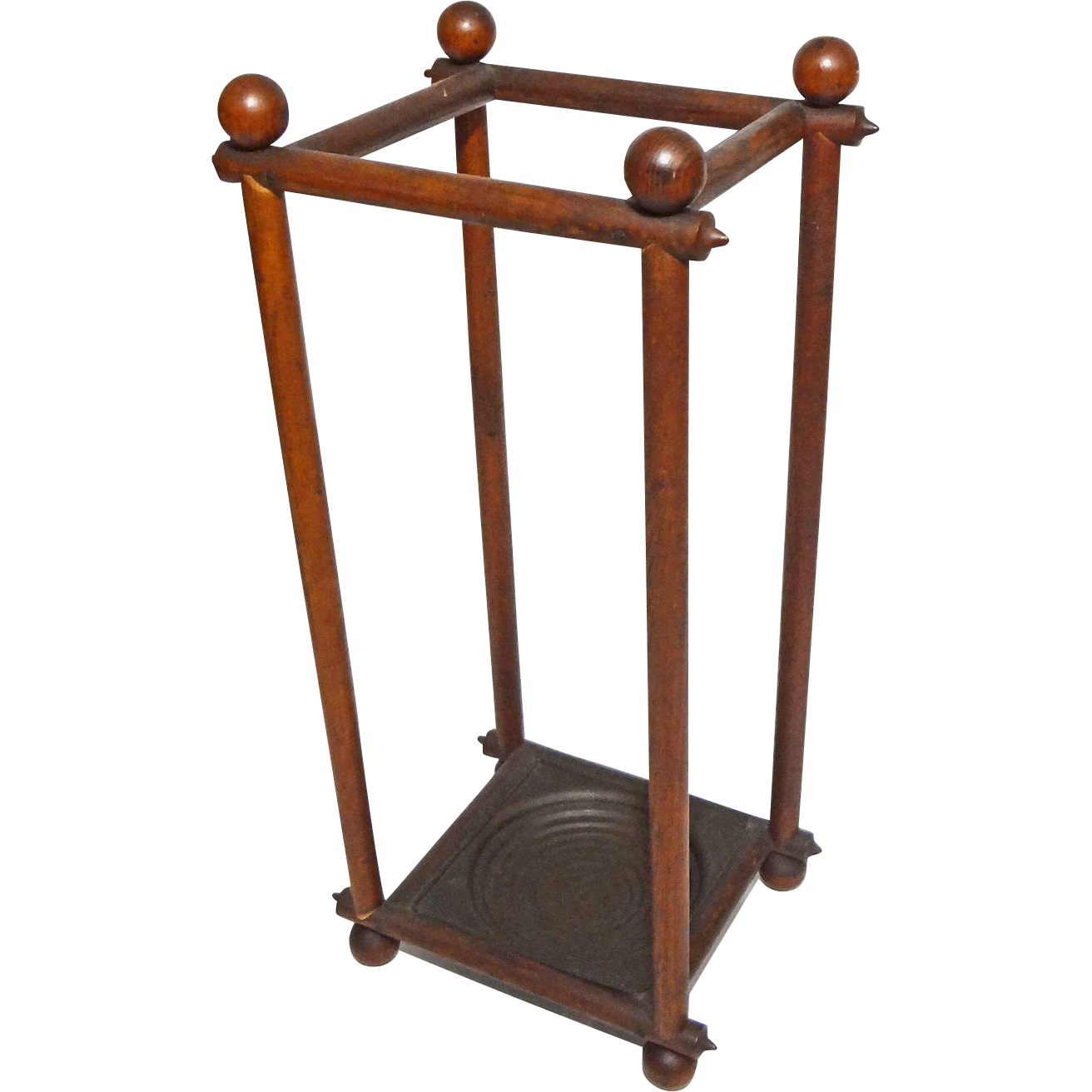 Arts & Crafts Style Stick and Ball Umbrella Cane Stand