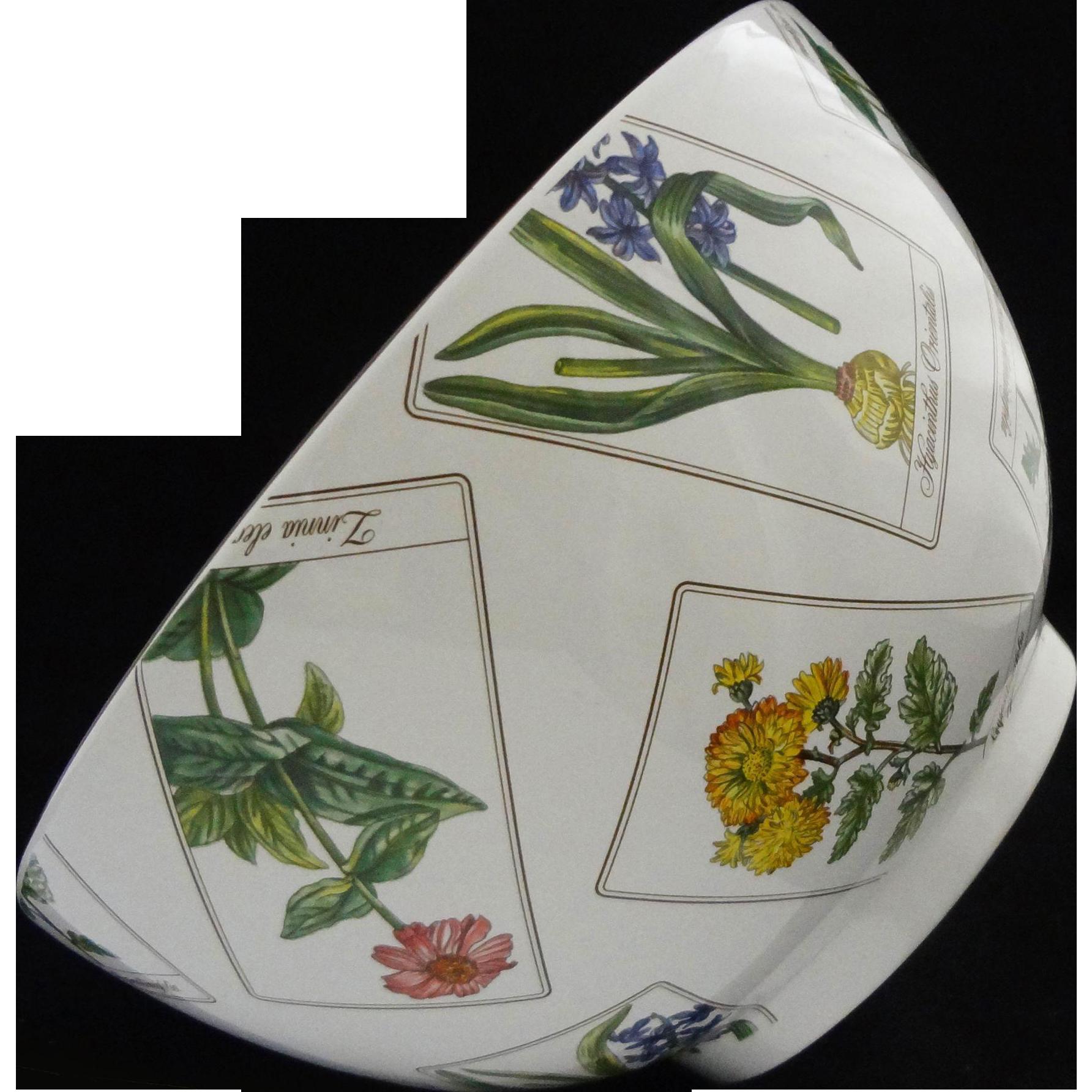 Tiffany & Co. Large Porcelain Serving Bowl Botanicals - 20th Century, Portugal