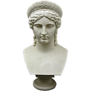 Copeland Parian Bust of Juno after Malempre Signed - 1865 or later, England - Red Tag Sale Item